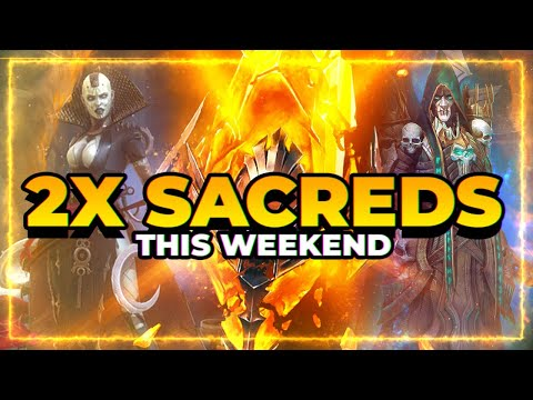2x SACREDS This Weekend! Community Update! | RAID Shadow Legends