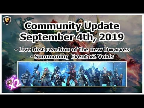 RAID Shadow Legends | September 4th, 2019 | New Dwarves + x2 Voids