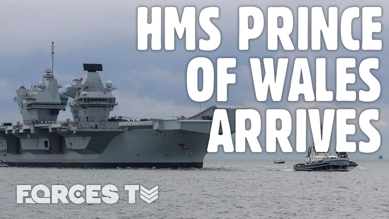HMS Prince Of Wales Arrives