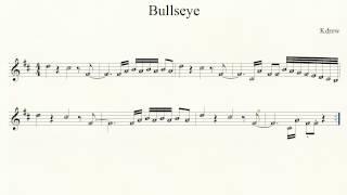 Piano - Bullseye - Notes - Kdrew - how to play intro