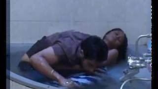 BHOJPURI MOVIE ACTRESS BATHROOM KISSING SCENE IN TOWEL001 width=