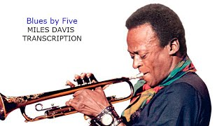 Blues by Five/Red Garland. Miles Davis' Transcription. Transcribed by Carles Margarit