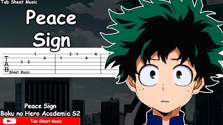 Boku no Hero Academia Season 2 OP - Peace Sign Guitar Tutorial
