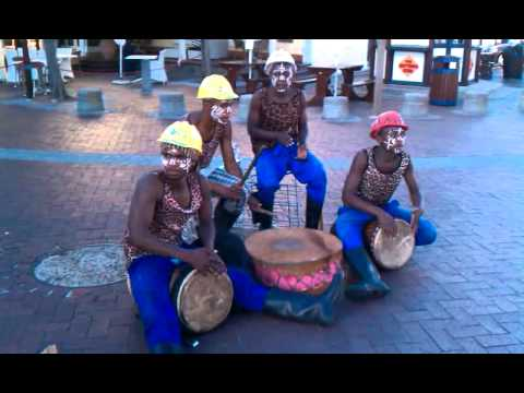 Drum ensemble at V&A Waterfront, Cape Town, South Africa