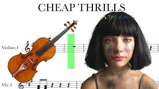 CHEAP THRILLS- SIA-VIOLIN SCORE