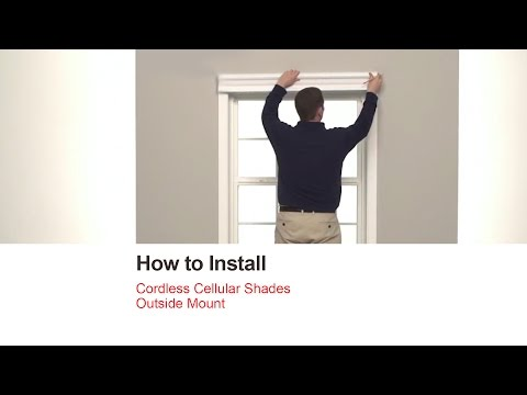 How to Install In-Stock Cordless Cellular Shades - Outside Mount