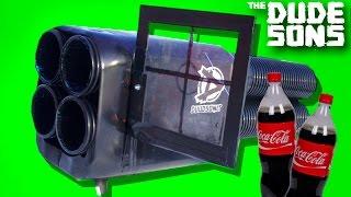 PROPANE + COKE ROCKET LAUNCHER EXPERIMENT ! - The Dudesons