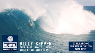 Billy Kemper at Jaws 3 - 2017 Billabong Ride of the Year Entry - WSL Big Wave Awards