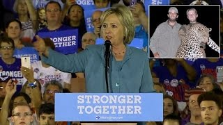 Hillary Clinton Calls Donald Trump and Sons Hunters As Animal Activists Protest