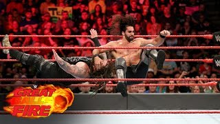 Seth Rollins has Bray Wyatt on his heels with a rapid attack: WWE Great Balls of Fire 2017