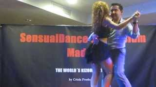 NEUZA (3) alive concert in SENSUAL DANCE MADRID 2013 dancing with a fan.