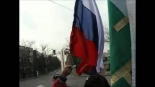 Химн на Русия на протеста пред посолството на САЩ за суверенитет на народите -11.11.2014
