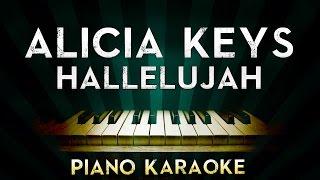 Alicia Keys - Hallelujah | Piano Instrumental Karaoke Instrumental Lyrics Cover Sing
