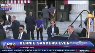 Bernie Sanders ATTACKED. Secret Service Steps In