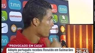 "Portuguese Fans Chanted the name of "" Messi Messi "" upon Cristiano Ronaldo Arrival - 04/02/2013"