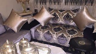 أخر تصاميم الصالون المغربي وجديد اثواب طلامط غاية �ي الأناقة 2017:
