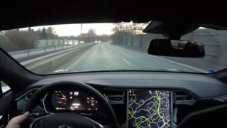 Tesla Model S HW2 FW 17.9.3 Autosteer greatly improved compared to FW 17.7.2