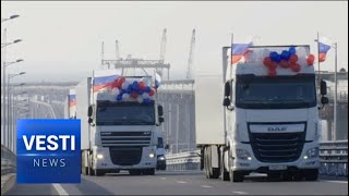 Full Potential Unlocked! New Crimean Bridge Opens Up to Mass Freight Traffic; Resupply of Peninsula