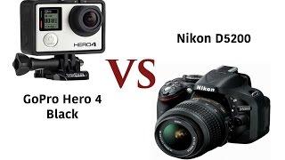GoPro Hero 4 Black edition Vs DSLR camera (Video comparsion)