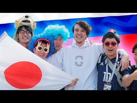Japanese Football Fans On Russia 2018 World Cup