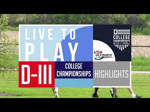 Video Thumbnail: 2018 D-III College Championships: Highlights