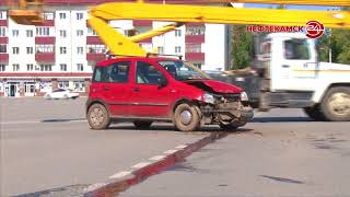 Авария на площади