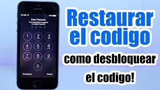 Desbloquear IPhone con Codigo / Restaurar Codigo de Seguridad / Desactivado / iPhone , iPod, iPad width=