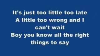 JOJO Too Little Too Late (With Lyrics)