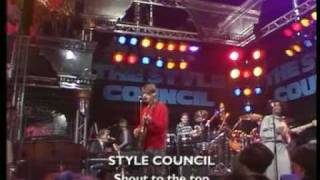 Style Council - Shout To The Top ( The Tube TV Show 1984 ) Live - Lyrics