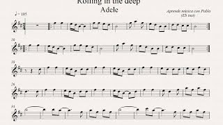ROLLING IN THE DEEP: Eb Inst (saxo alto, saxo barítono...) (partitura con playback)