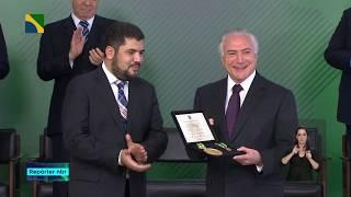 Presidente Michel Temer recebe a Ordem Nacional Barão de Mauá
