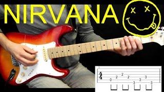 Как играть риф на гитаре Nirvana Heart Shaped Box УРОК, разбор