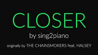 Closer (Shortened Piano Karaoke) The Chainsmokers & Halsey