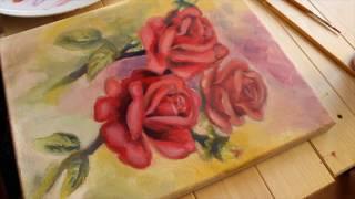 Roses Oil Painting Timelapse