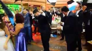 Bateria do Grêmio na festa de casamento Matheus e Gabriela.
