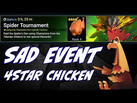 Special Spider tournament get that umm chicken. What a sad special event. Raid Shadow Legends