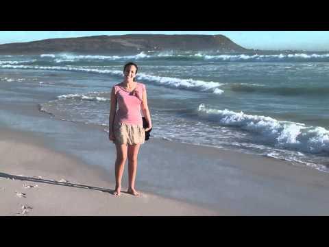 Mona at Nordhocke beach – near Cape Town