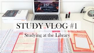 STUDY VLOG #1 - Studying at the Library