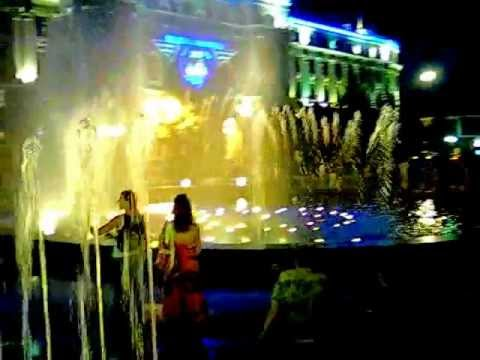 Ukraine Fountain at Station Square in Kharkov.mp4