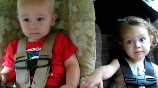 vivi and phoenix holding hands in the car
