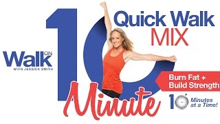 "Fit in Fitness 10 minutes at a time with our NEW ""10 Minute Quick Walk Mix"" DVD with Jessica Smith"