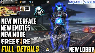 FREEFIRE ADVANCE SERVER FULL DETAILS ABOUT NEW UPCOMING OB18 UPDATE - NEW PET , EMOTE , CHARACTER 🔥