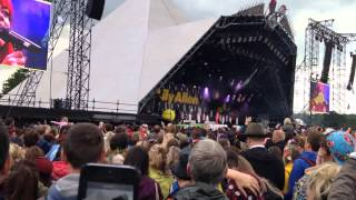 Lily Allen - Somewhere Only We Know Glastonbury Festival 2014