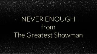 Never Enough - The Greatest Showman (Instrumental Cover)