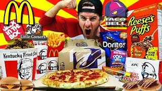 THE ULTIMATE AMERICAN FAST FOOD CHEAT DAY (30,000+ CALORIES)
