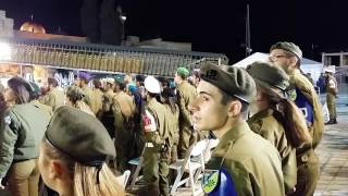 Hatikvah at the Kotel, Memorial day 2016.