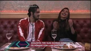 Luan Santana joga cantada para Sabrina Sato