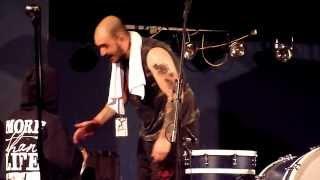 Being As An Ocean Drummer Shad Hamawe dismantles drumset, Live Leipzig Conne Island 26  September 20