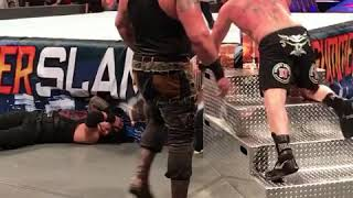 WWE Summer Slam 2017 - Braun Strowman STILL Destroying Brock Lesnar