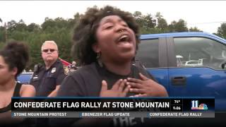 WXIA 11 Alive Confederate Flag Rally at Stone Mountain